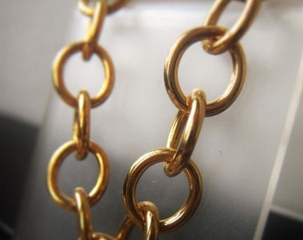 Brass Chain Rounded Oval Link Chain Round Wire Chain Item No. 8505