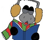 Christmas Season Holiday Greeting Card - Season's Bleatings - Blank Stationary - Funny Cute Sheep Greeting Card - A2 Card