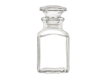 4 pcs Glass Bottle with Glass Stopper