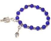 Hanukkah blue charm bracelet
