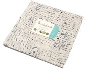 """Mona THE WORDSMITH Layer Cake 10"""" Precut Fabric Quilting Cotton Squares Janet Clare 1390LC"""
