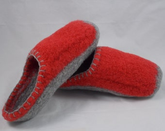 Wool Knit Felted Slippers, US Women's Sz 6-6 1/2