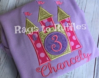 Princess Castle Birthday Shirt Princess Birthday Shirt