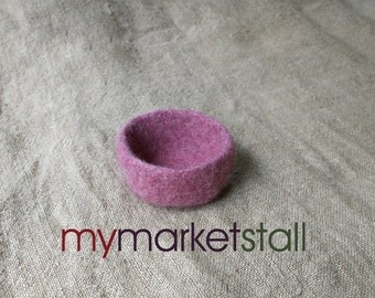 Raspberry Felted Bowl - Ready to Ship