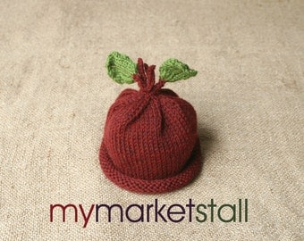Red Beet Hat for Baby - 0 - 3 Months - Cute Photo Prop or Everyday Use - Made-to-Order