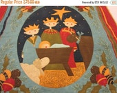 Holiday Sale Adoration,  a Quilted Nativity  Wall Hanging