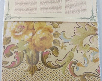 The Evergreen Press Victorian Wallpaper Gift Wrap Package Of 3 Sheets New Old Stock Roses