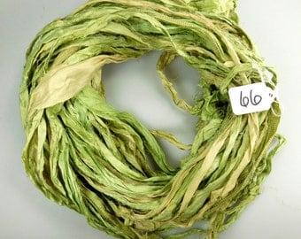 Silk Sari Ribbon, Sari silk ribbon, recycled ribbon, sage green sari ribbon, silk ribbon, green sari ribbon