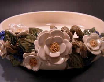 Porcelain Bowl with Flowers