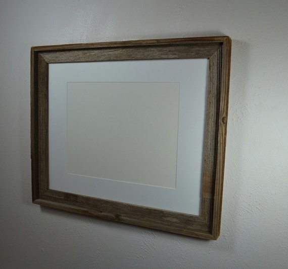 16x20 recycled wood frame with white mat for a 11x14 print or. Black Bedroom Furniture Sets. Home Design Ideas