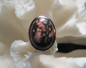Beautiful Ocean Jasper Ring Size 7