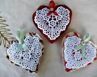 Lavender Sachets - Set of 3 - Handmade