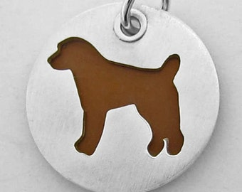 Colorful Jack Russell Sterling Silver Dog Charm or Pendant
