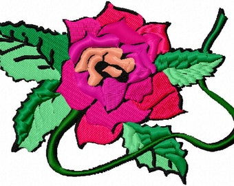 Rose on a Vine Machine Embroidery Design...2630