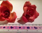 2 Vintage Broken China Mosaic Supply Coral Roses