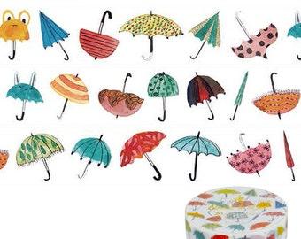 Umbrellas Washi Tape • Umbrellas Japanese Washi Tape • Aimez le style Washi Tape (05038)