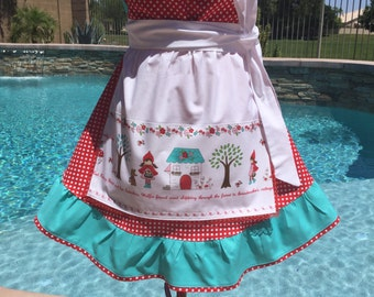 Little Red Riding Hood Overlay Sassy Apron