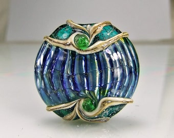 Lampwork Glass Bead Lost Jewel Of Atlantis Lampwork Focal Bead
