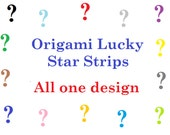Surprise Listing of Random Origami Lucky Star Strips - Pack of 75 Strips in One Design