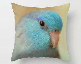 Blue Parrotlet Pillow