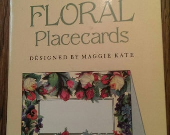 Vintage 1994 Dover Publications Old-Time Floral Placecards