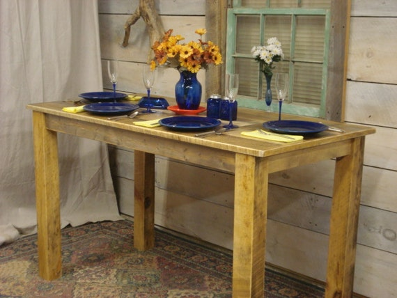 Farmhouse counter height table 60 x 30 x 30 to for Farmhouse counter height table