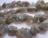 "Natural Labradorite Small Nugget Semi Precious Gemstone Beads - Full 15"" Strand"