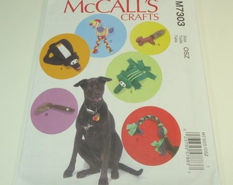 McCalls Pet Toys Craft Pattern M7303