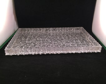 Vintage 1960's Era Clear Acrylic Serving/Drink Tray