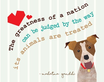 Pet Portrait Customizable Pet and Quote Print Available in Different Sizes.