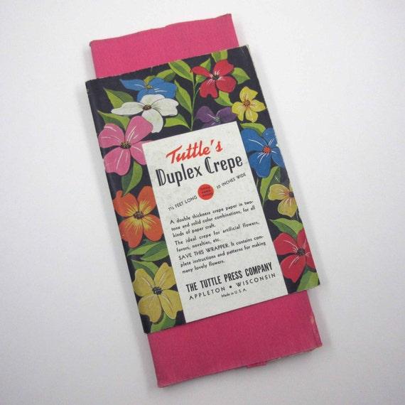 Vintage Tuttle S Duplex Pink Crepe Paper In Original