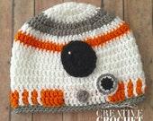 BB8 Droid Crochet Hat