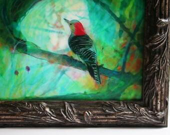 Perfect view, 11x13 inches, Fine Art photography, mixed media photograph, original art, birds, nature decor, framed art #bird art