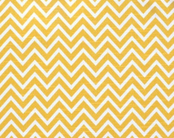 Premier Prints Fabrics. YELLOW COSMOS CHEVRON Zig Zag. Fabric By the Yard. Home Decor Yardage. Destash Fabric. Modern Chevron. SewGracious.
