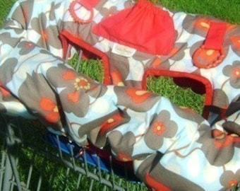 Morning Glory Reversible Shopping Cart Cover - Fits ALL Carts