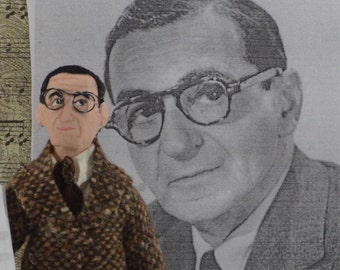 Irving Berlin Music Songwriter American Composer Unique Miniature Art Character