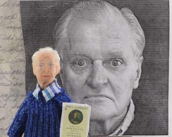 John Ashbery Doll Miniature Literary Poet Art Collectible