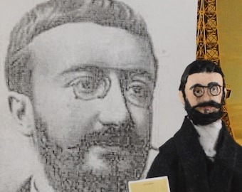 Alfred Binet Doll French Psychologist Historical Figure Art Science of the Mind