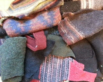 felted wool scraps, Felted Sweater Wool Scraps for crafting - Wool Scraps for sewing and DIY projects - wool fabric destash!