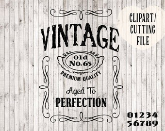 vintage t shirt svg, birthday svg, shirt svg, svg files for silhouette, silhouette cameo, cricut files, screen print design, cutting file