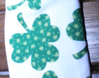 Awesome Shamrock Crochet Top Hanging Towel