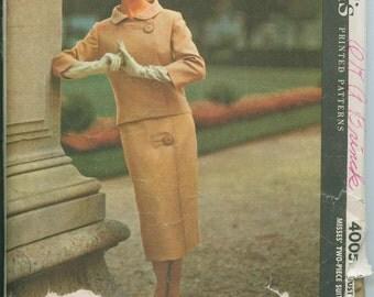 1957 McCalls 4005 GIVENCHY Two Piece Skirt Suit Sewing Pattern VHTF Audrey Hepburn's Favorite Designer Size 14