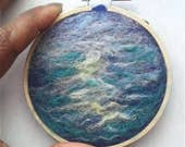 Embroidery Hoop Ocean Sea Needle Felting 3.5""