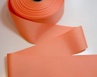 Wide Orange Ribbon, Light Orange Grosgrain Ribbon 2 1/4 inches wide x 10 yards