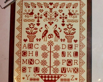 Cross Stitch Kit, Sampler Alsace 3 , Counted Cross Stitch Kit by Anagram, FN