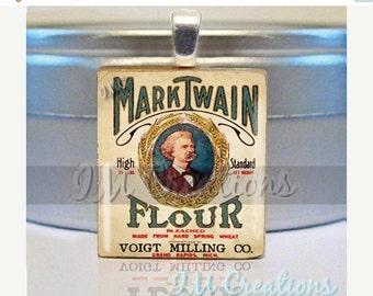 60% OFF CLEARANCE Mark Twain Old Fashion Flour Cooking Scrabble tile pendant FD108