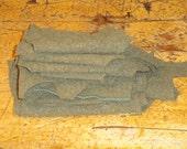 Green Wool Army Blanket Scraps