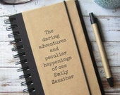 Journal, Notebook, Personalized Gift, Daring Adventures