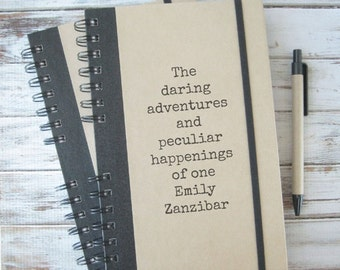 25% Off Sale! Personalized Writing Journal, Boyfriend Gift, Custom Notebook, Best Friend Gift, Personalized Gift, Teacher Gift, Daring Ad...