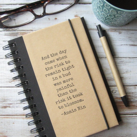 Inspirational Journal Notebook Anais Nin Quote Divorce Gift Zany 8